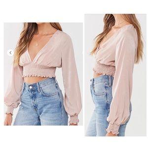Vneck long sleeve blouse